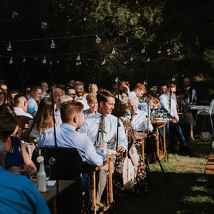 Upthorpe woodland wedding feast