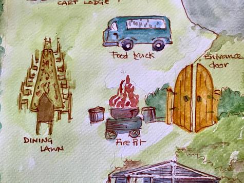 Upthorpe Wood Wedding Venue Map