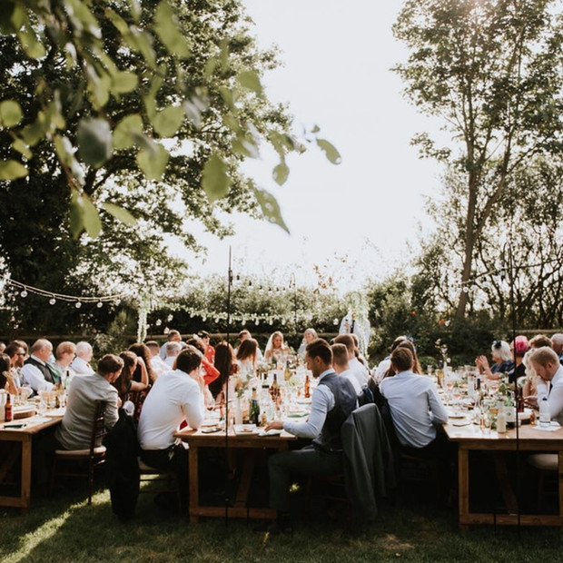 Upthorpe Wood wedding feast
