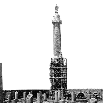 11_Trajan Column with scaffolding for plaster casts, Rome 1865.png