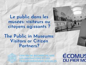 Event! Le public dans les musées : visiteurs ou citoyens agissants? The Public in Museums: Visitors