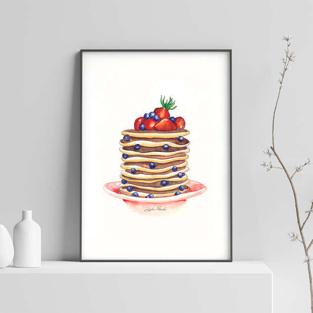 Watercolour Food Illustrations