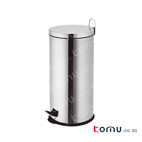 Chrome Pedal Dustbin (Large)