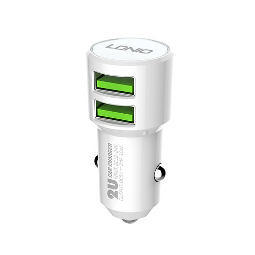 LDNIO Double USB Car Charger/Auto-ID - C309