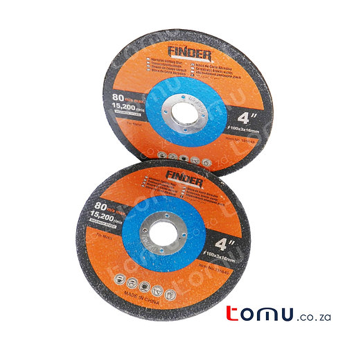 FINDER - (100 x 3 x 16mm) Abrasive Cutting Disc for Metal - 195649
