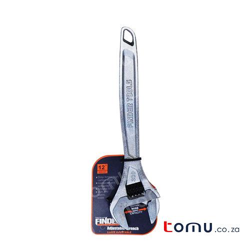 "FINDER – 12""/300mm Chrome Alloy Steel Adjustable Wrench – 192764"