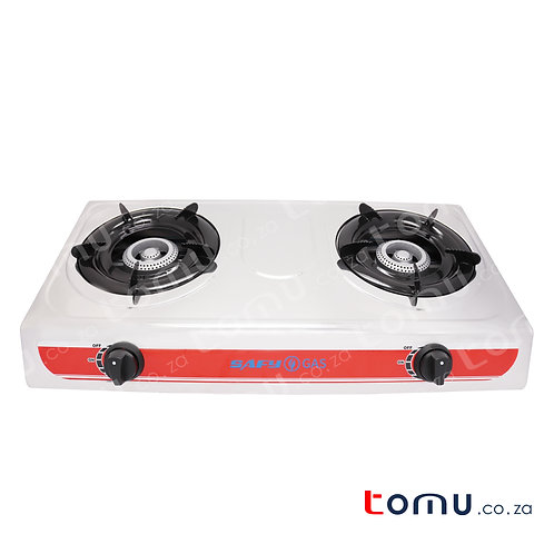 SAFY – Double-Burner Gas Stove (Stainless-Steel Top) – RH-GS214