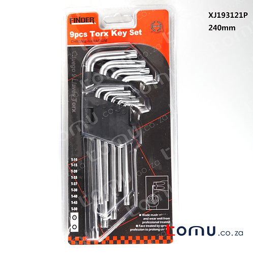 FINDER - 9pcs Torx Key Set Extra (Long) – 193121