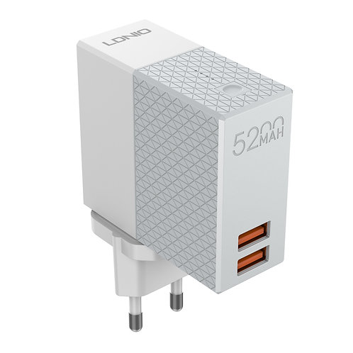 LDNIO 2-IN-1 Wall Charger + Power bank - PA606