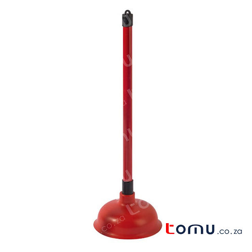 Plunger; 15.5cm TPR sucker; 44cm PVC handle - LAH130003