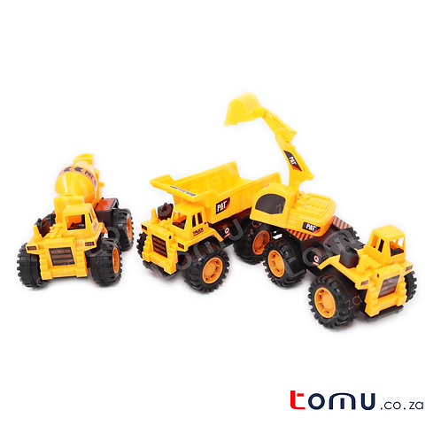 3 Construction Trucks per pack – 6901