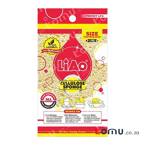 LiAo - Wood-pulp Cloth (14x10x3.5cm Cellulose Sponge) - 2pcs/pack - LAG130057