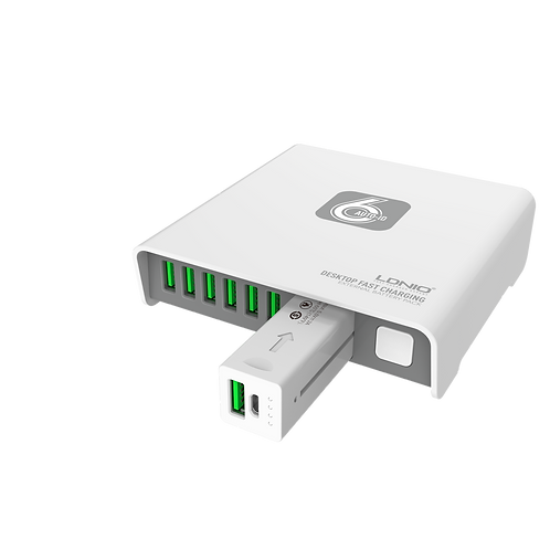 LDNIO 6-Port USB Charger with 2600mAh Power Bank - A6802