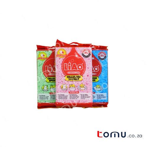 LiAo - Cellulose Sponge (14 x 9 x 1.9cm) - 2pcs/bag - LAG130065