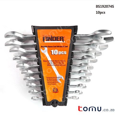 FINDER – 10pcs Double Open-End Spanner Set – 192074