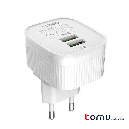 LDNIO - Universal Travel Charger - 2 USB Ports - EU Plug - A201