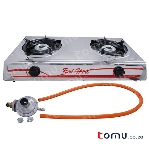 Red-Hart - 2 Burner Stainless Steel Gas Stove - RH2650a