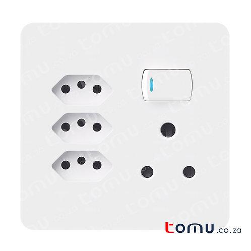 CHINT - SA&3 X Euro Switched Socket 16A 250V 4X4 – 255792