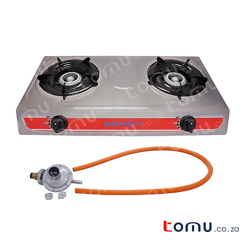 SAFY - Double Burner Gas Stove (Stainless steel Top) - RH-GS214