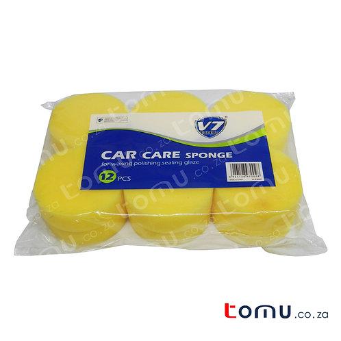 V7 - 12pcs Round Sponges (10 x 3cm) - V7002