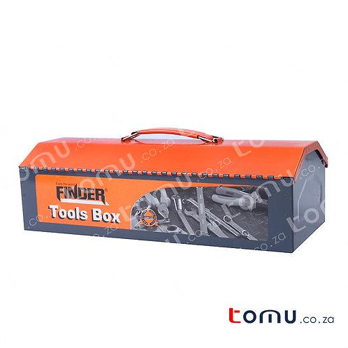 "FINDER - 12"" Portable Metal Tool Box - 194131"