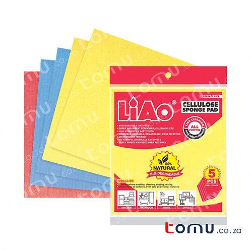 LiAo - Wood-pulp Cloth (18x20cm Cellulose Sponge) - 5pcs/pack - LAG130049