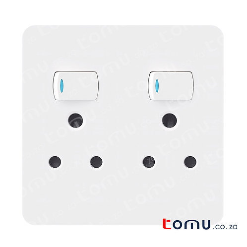 CHINT - Double Switched socket 16A 250V 4X4 – 249449