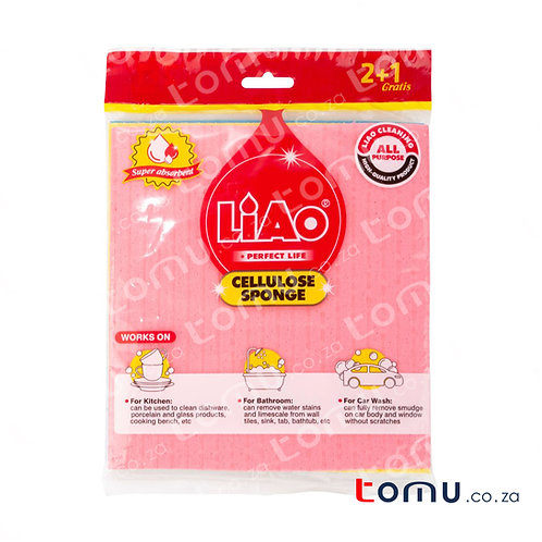 LiAo - Wood-pulp Cloth (18x20cm Cellulose Sponge) - 3pcs/pack - LAG130048