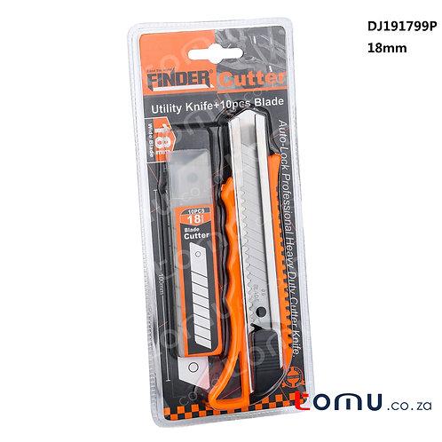 Finder - 2pcs Utility Knife Set (Orange Handle) - 191799