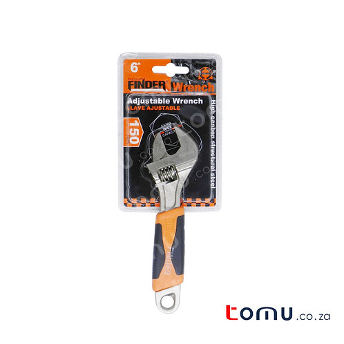 """FINDER - Adjustable Wrench - 150mm/6"""" - (Rubber Handle Cover) - 192007"""