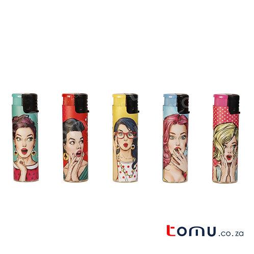 Sun Lighter - 5 per pack Nostalgic Girls (R5/lighter) - E035
