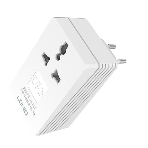 LDNIO 2-in-1 Travel Converter Adapter & Mobile Charger - A3306