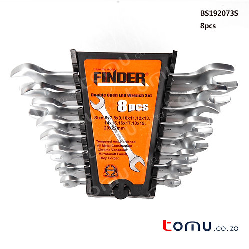 FINDER – 8pcs Double Open-End Spanner Set (6*7 to 18*19mm) – 192073