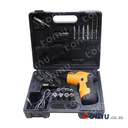 FINDER – 45pcs Cordless Drill and Screwdriver Set – 193152