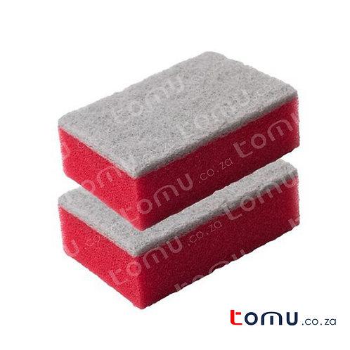 LiAo - Sponge Scourer (10X7X3.5cm) - 2 pieces/pack - LAH130029