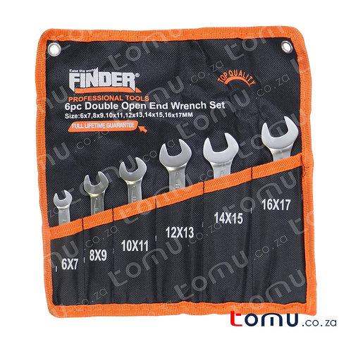 FINDER - 6pcs Double Open-End Spanner Set – 192066
