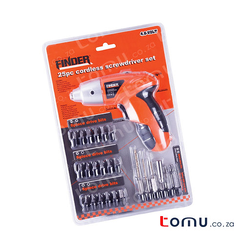 FINDER – 25pcs Cordless Screwdriver Set – 193148
