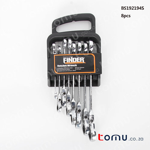 FINDER - 8pcs Ratchet Combination Wrench Set - 192194