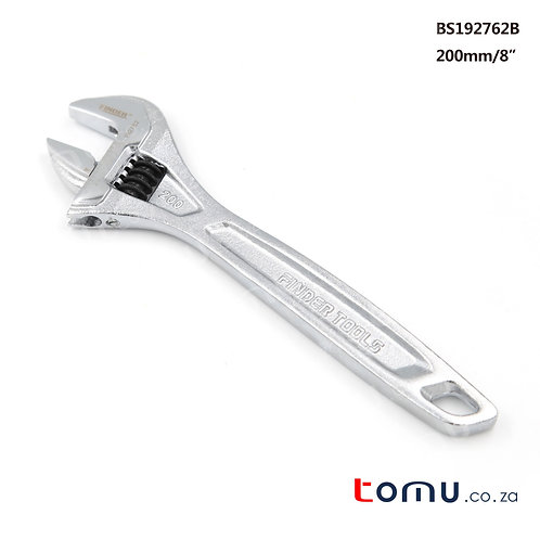 "FINDER – 8""/200mm Chrome Alloy Steel Adjustable Wrench – 192762"