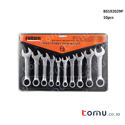 FINDER – 10pcs Stubby Spanner Set – 192029