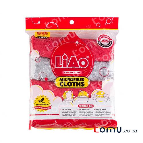 LiAo - Microfiber Cloth (30x40cm) - 4pcs/pack - LAG130063