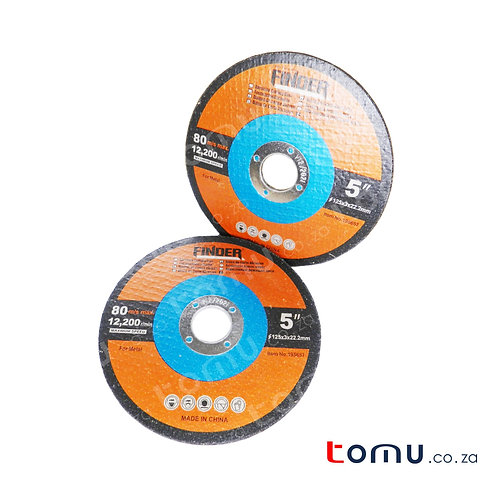 FINDER - (125 x 3 x 22.2mm) Abrasive Cutting Disc for Metal - 195657