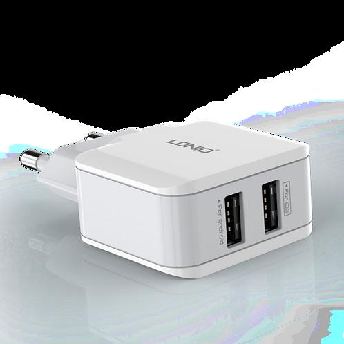 LDNIO Dual USB Home/Travel Charger (EU Plug) - 2 USB Ports - A2202