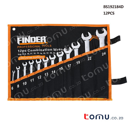 FINDER – 12pcs Combination Wrench Set (6 to 24mm) – 192184