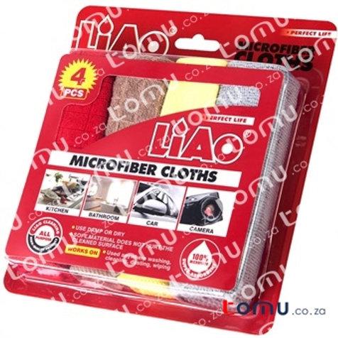 LiAo - Microfiber cloths (4pcs/pack - 30X30cm) - LAG130020