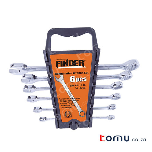 FINDER – 6pcs Combination Wrench Set with Plastic Hanger – 192188