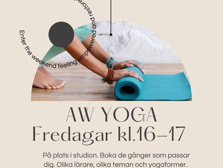 Sista chansen till yoga på fredag!