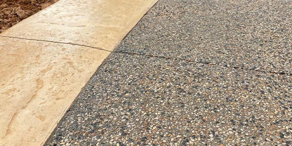 Дорожки в технике мытый бетон: создание въездных зон, лестниц, тротуаров