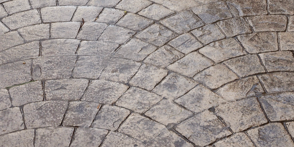 Stamped Concrete: how to make pathways and parking places