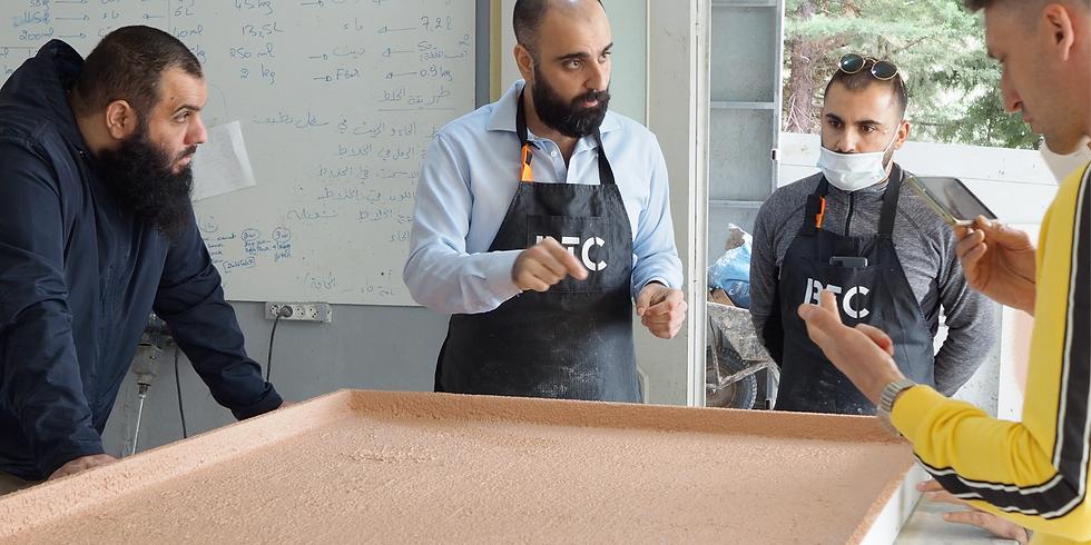 Glass Fiber Reinforced Concrete: interiors&exterior. Spraying and wet cast techniques